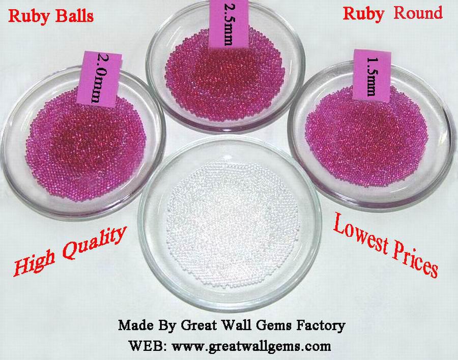 ruby ball, ruby round, corundum ball, corundum round, cubic zirconia,CZ