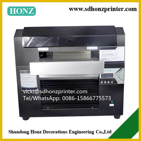 New A3 size UV Flatbed Inkjet Printer with UV LED Lamp