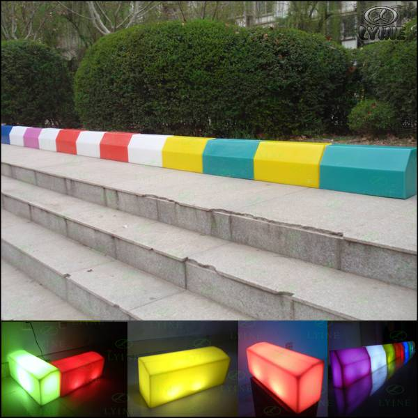 new design plastic paver kerbs mould led light