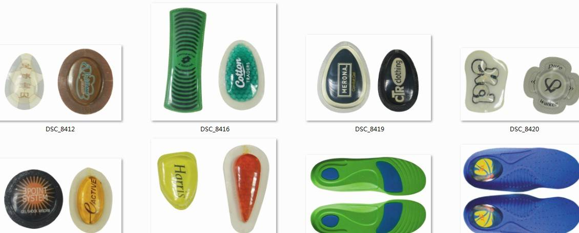 Comforty Heel Cushion Custom Gel Shock Absorber Oil Bag for Insole or Shoes Accessory