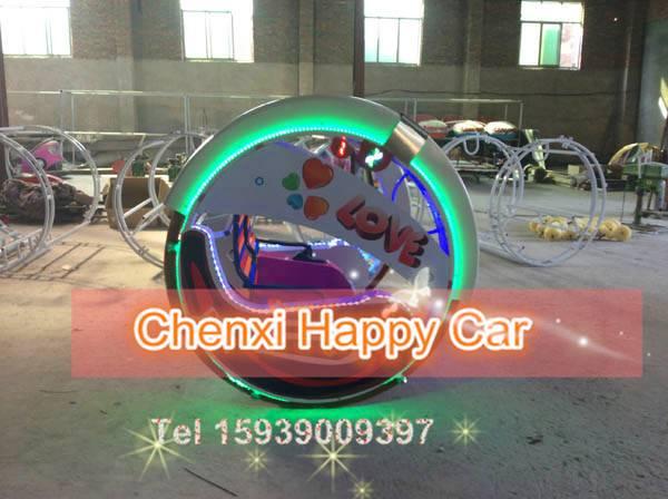 China Popular Amusement Rides, 2 Wheels Rotating Self- balanced Racing Ride for Family
