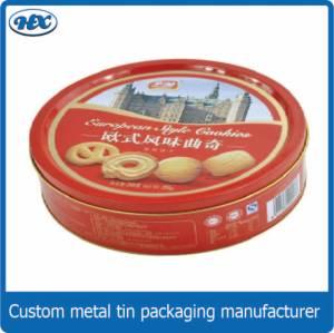 Europe style round biscuit tin box