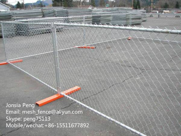 Chain LinkTemporary Fence with Metal base