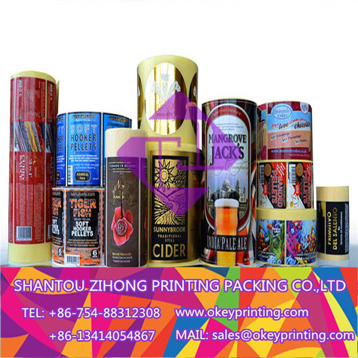 printing color paper adhesive sticker