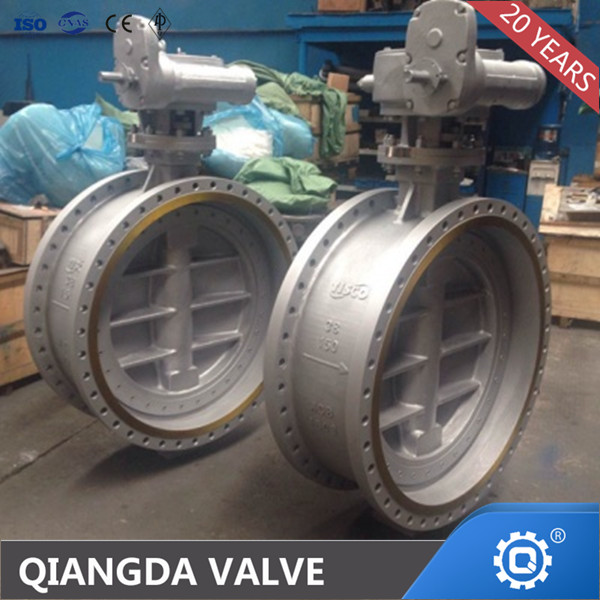 API 609 double eccentric metal seated butterfly valve