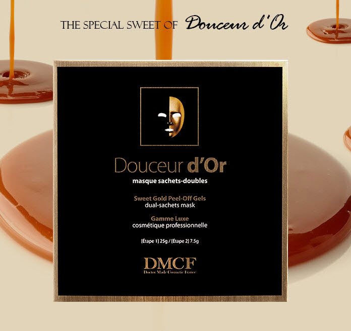 DMCF Douceur d'Or Peel-Off Gel Mask - firming mask for aging skin