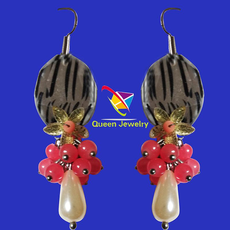Best seller custom design beautiful charm beads ladies earrings fashion jewelry