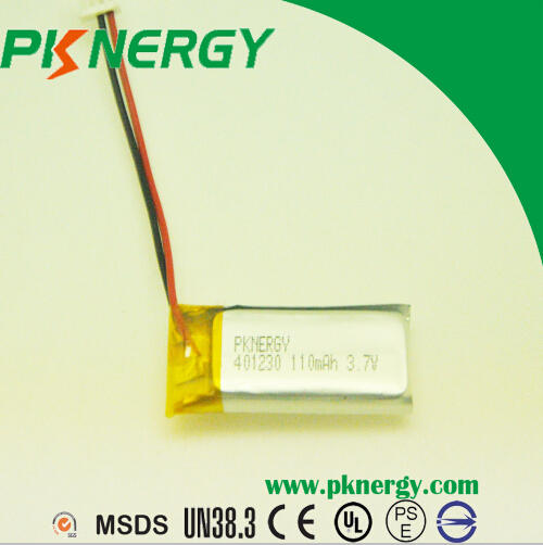 Rechargeable Batteries 401230 110mAh 3.7V lithium polymer battery for bluetooth headset