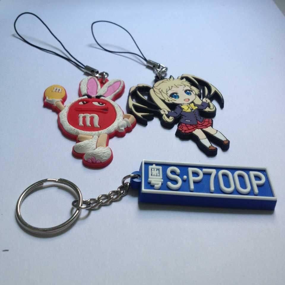 pvc silicone cartoon key chain souvenir
