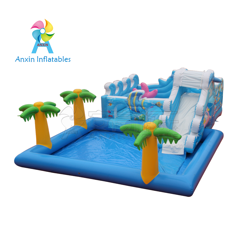 Customized Inflatable water Slide ,Inflatable Fun City For Kids Funny Park, inflatable marine castle