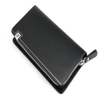 Hautton Fashion Design Long Style Envelope Men Leather Clutch Bag SZB46