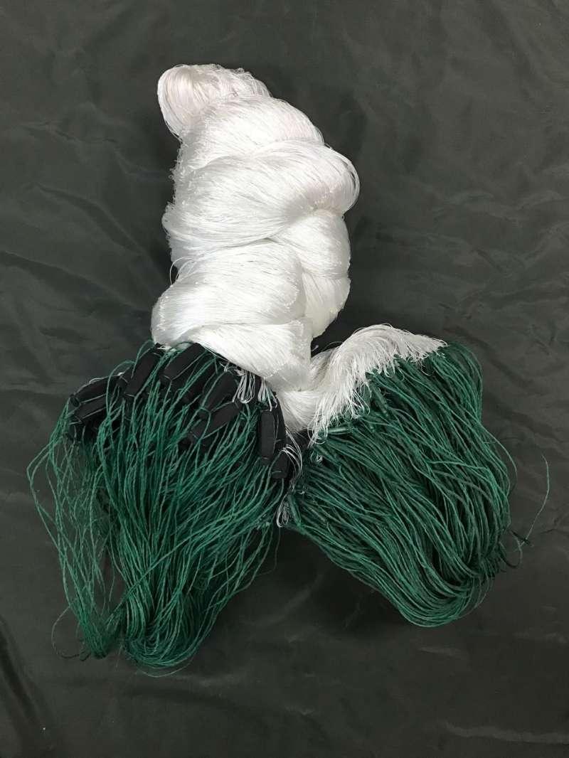 3 layers nylon fishing gill nets,210d/3 twine 50mmsq inside,0.28mm monofilament nets outside