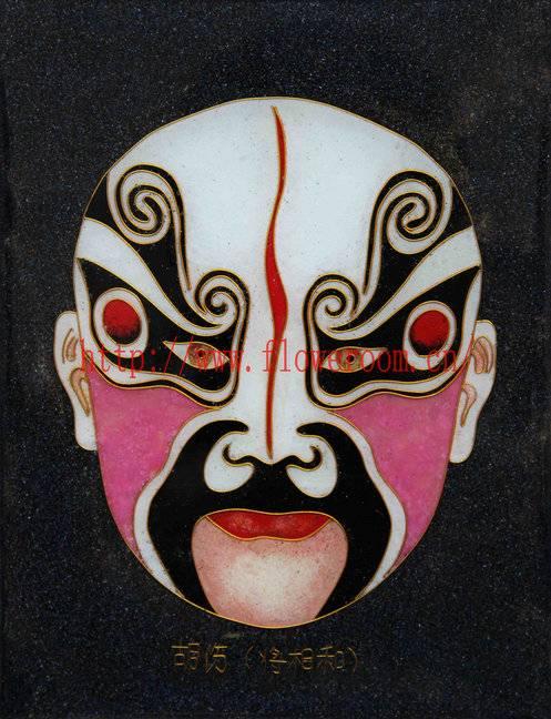 Cloisonne Handicraft Painting Peking Opera Masks Cute Home Decor
