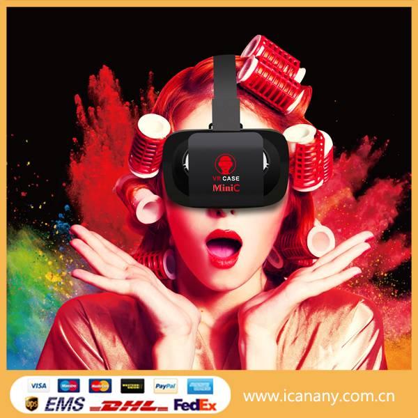 New trending hot 2016 vr case mini C 3d VR glasses virtual reality vr box 2.0 with vr gamepad
