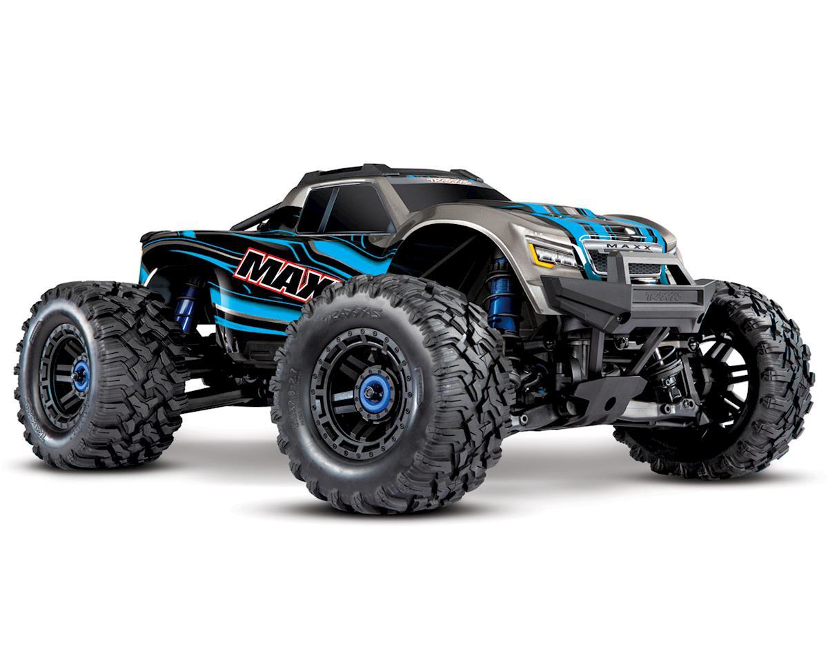 Traxxas 1/10 Maxx 4S 4WD VXL-4S Brushless 4x4 Monster Offroad RC Truck RTR Blue w/ TSM TQi Radio 890