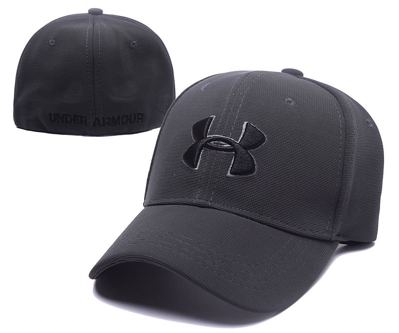 Under Armour Stretch Fitted Hats Gray