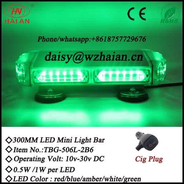 Hotsale Green LED Mini Lightbar China Manufacturers