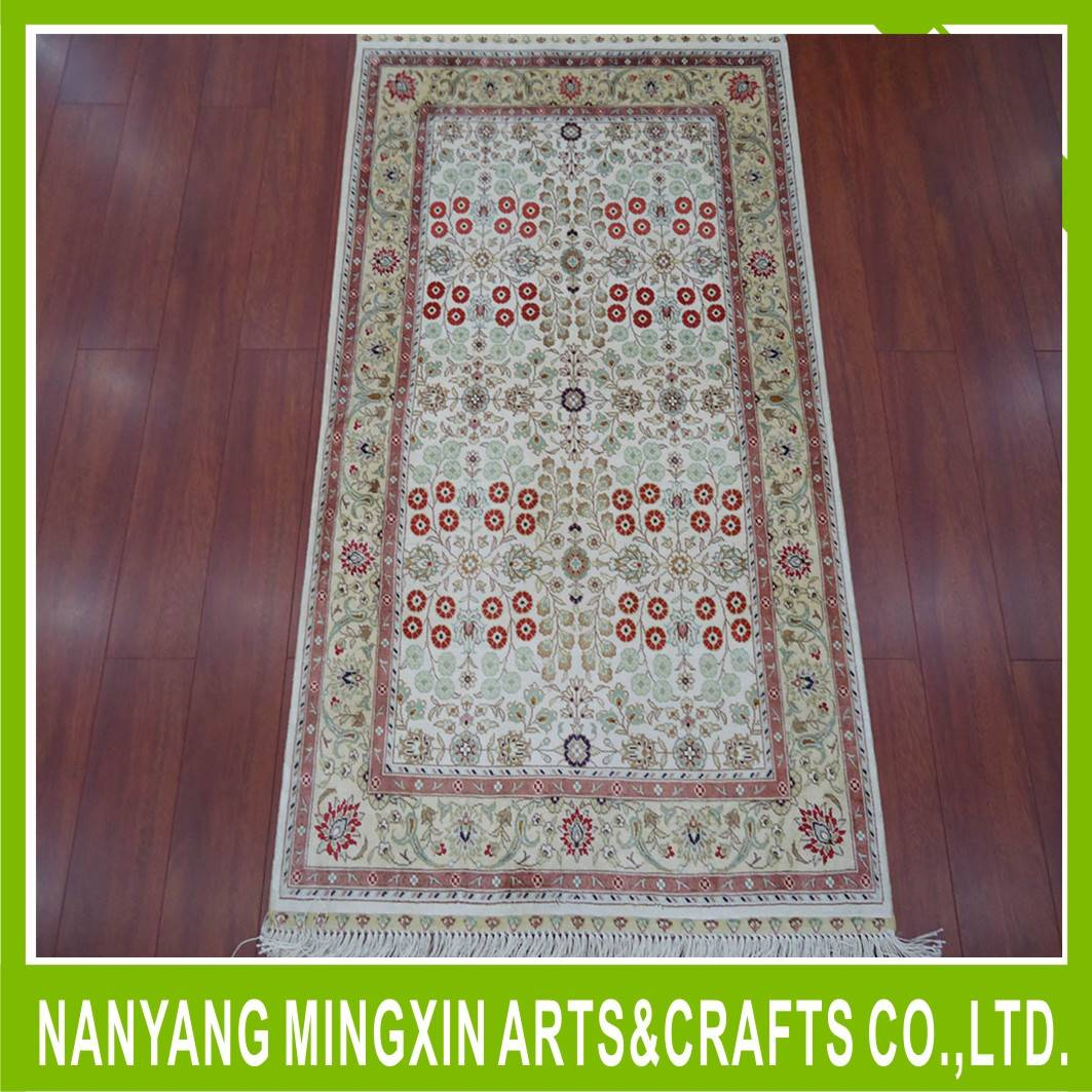 high quality Handmade pure silk carpet/rugs for hotel lobby