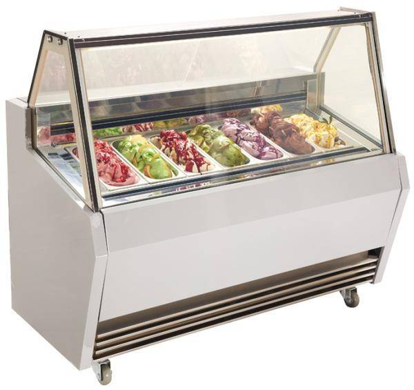 Square shape ice cream freezer with auto-defrost function