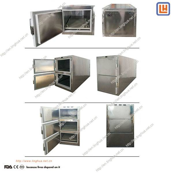 4 body Mortuary Corpse refrigerator in Morgue for Dead Body Storage of Funeral