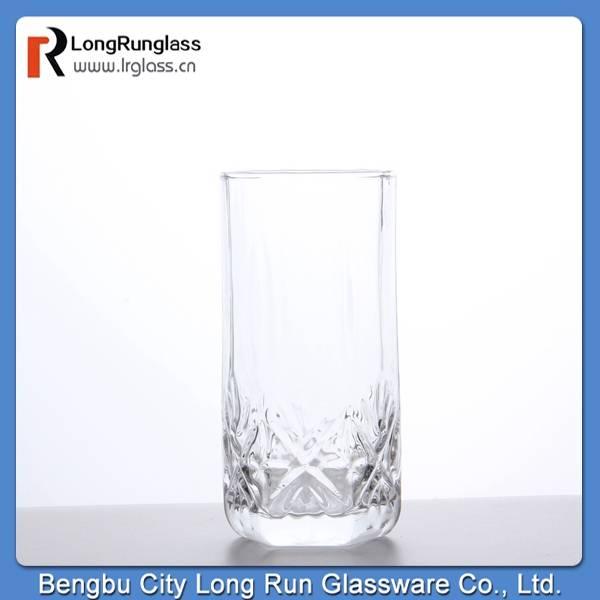 LongRun glassware whole sale sparkle crystal snowflask cut glass drinking water glass