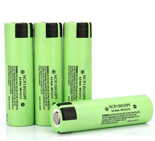 3.6V Li-ion Rechargeable Battery NCR18650PF 2900mAh Made in Japan