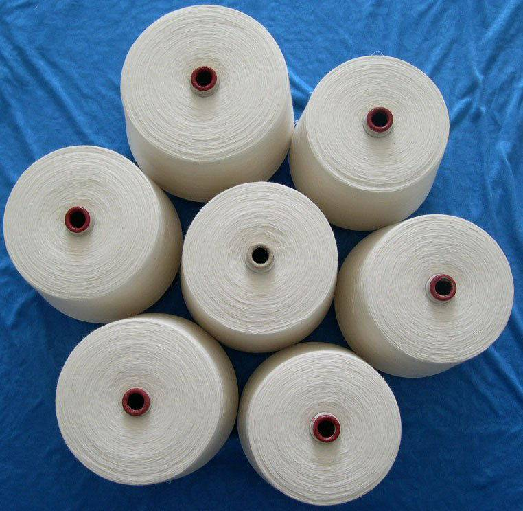 Supplying Raw white hollow yarn blended cotton with pva