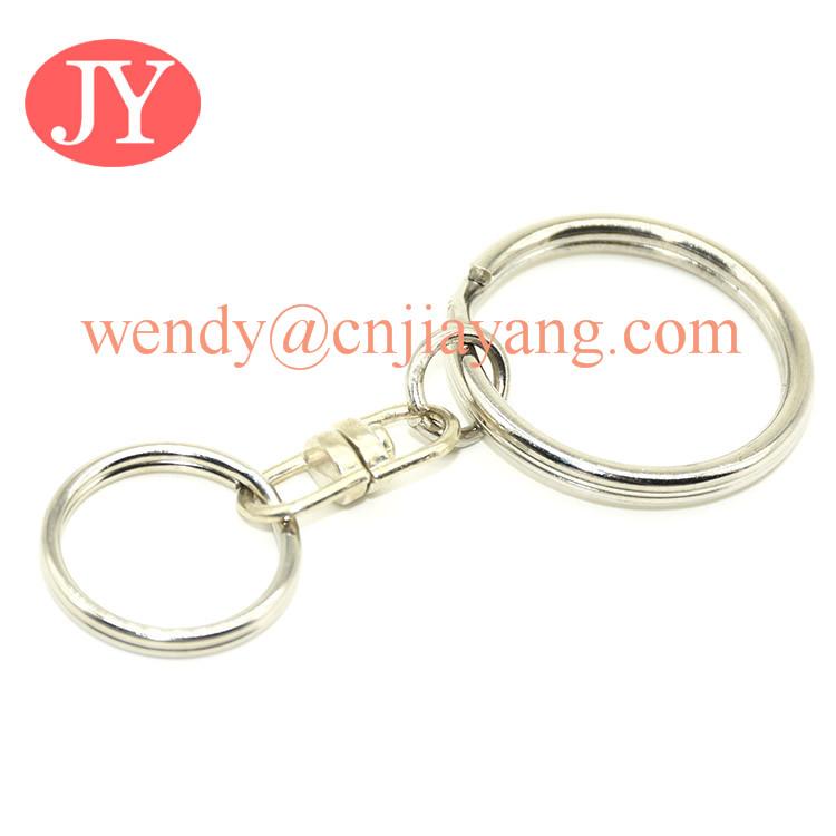 silver metal keyring with 8 hook buckles