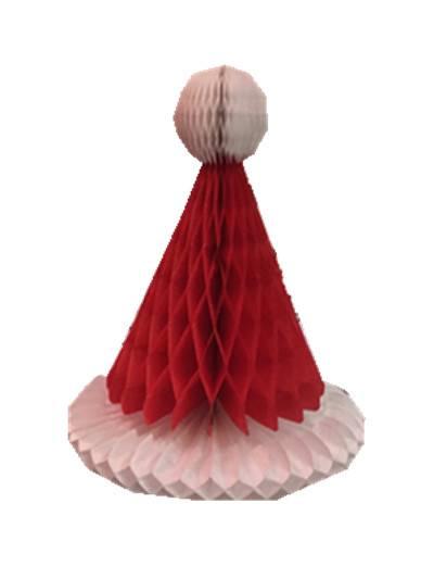 paper honey comb Christmas hat