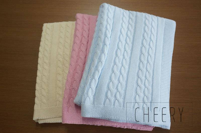 Wholesale Cable Knit Cashmere Blanket