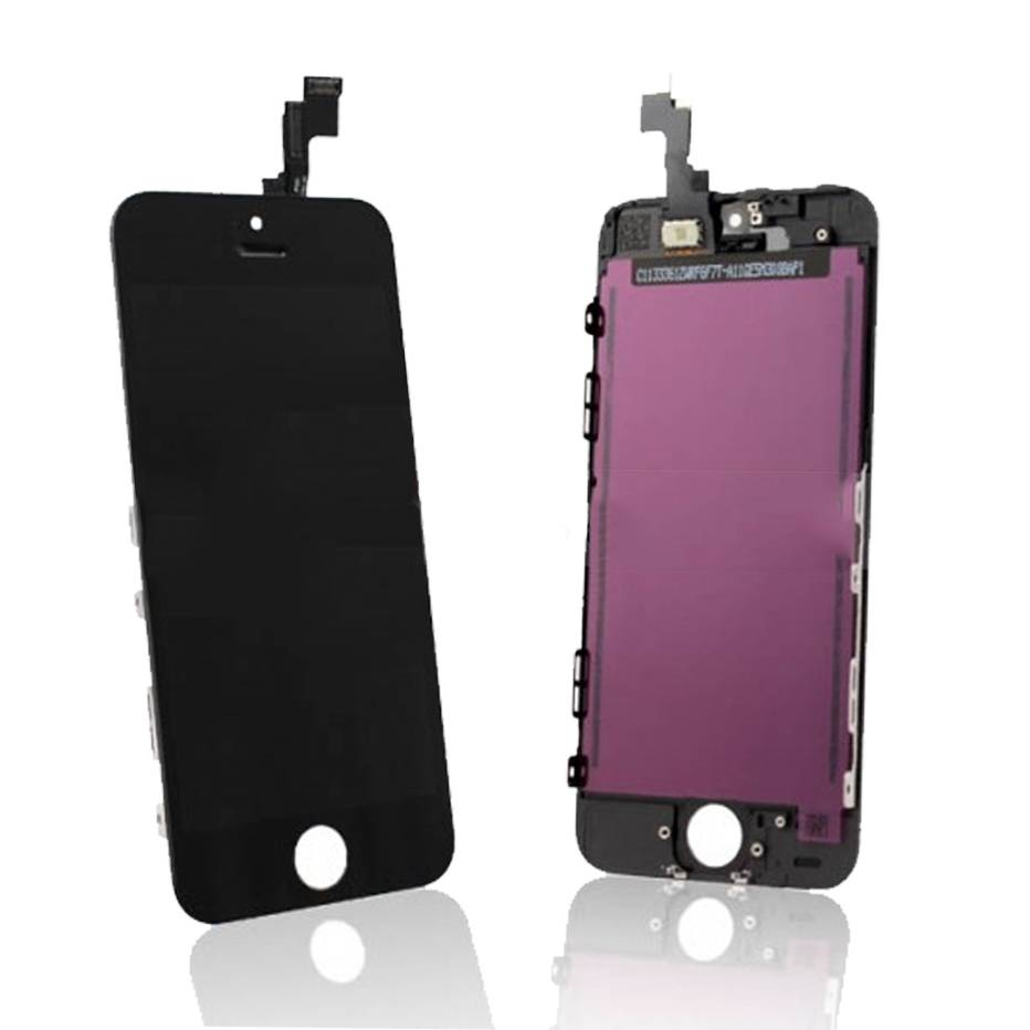 For iPhone 5S Full LCD Screen Digitizer  Touch Screen Glass Panel Assembly Complete Replacement Blac