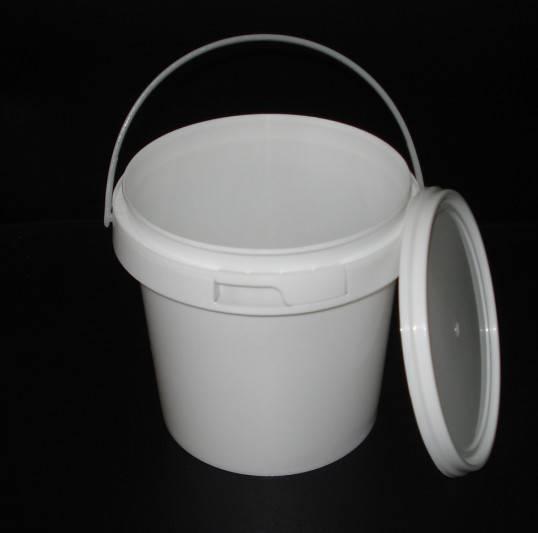 1Litre Plastic Bucket with tamper evident lid