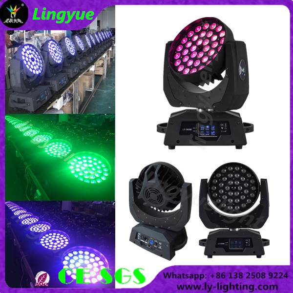 36x12w rgbw 4in1 zoom beam led moving head