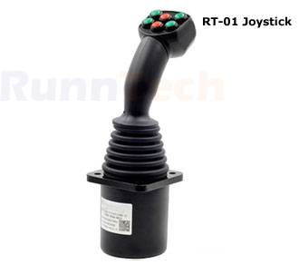 Runntech control Joystick (RT-01) with Throttle Multi-axis Analogue output dual axis  hydraulic cran