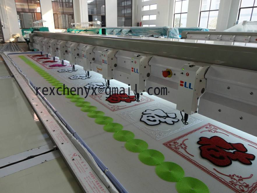 Towel embroidery machine/Computerized Chenille embroidery machine with 6 color