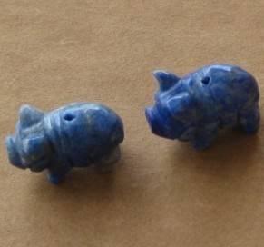 natural lapis lazuli pig beads