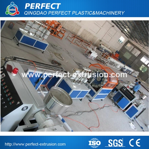PVC Fiber Reinforced Hose Extrusion Line, soft pipe production machine