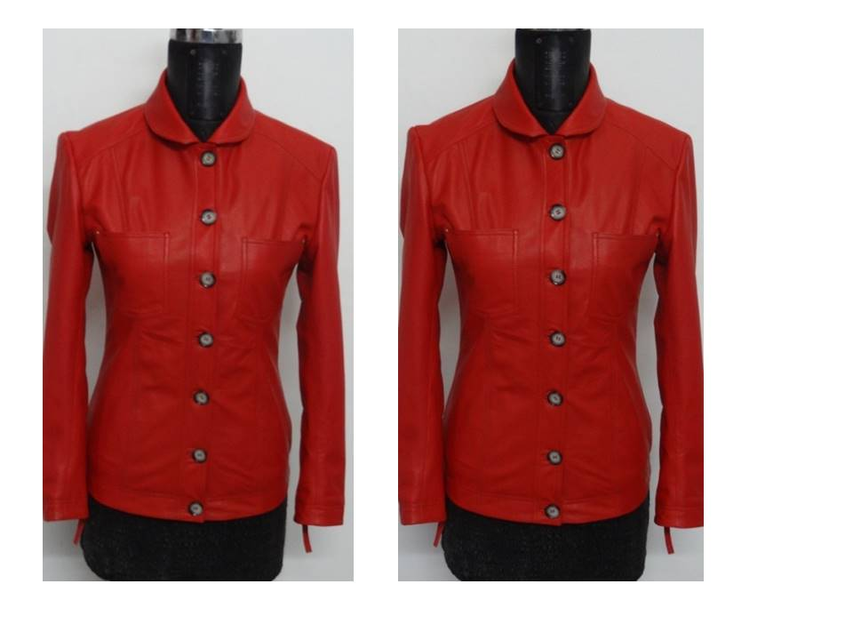 leather ladies coat