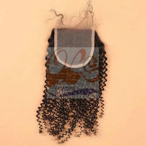 New Arrival GrantSea Hot sale Natural Black 4x4 Lace Closures Three Middle Free Part 6-22 Inches