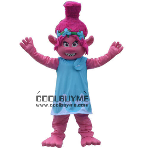 Plush TROLLS Poppy Mascot Costume For Adult Size Outfits For Halloween Party