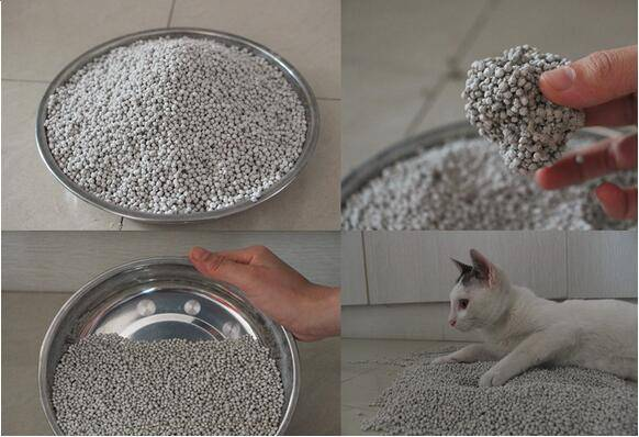 Ball shape bentonite clumping cat litter