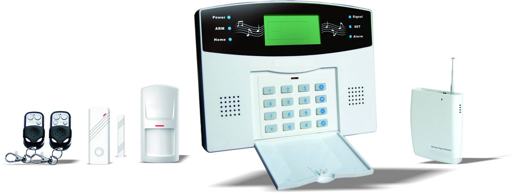 PSTN alarm system with LCD Screen