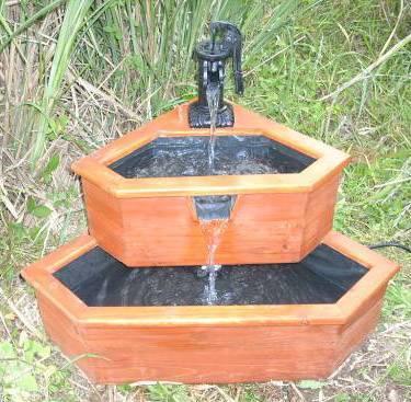 Wood Corner Water Fountains
