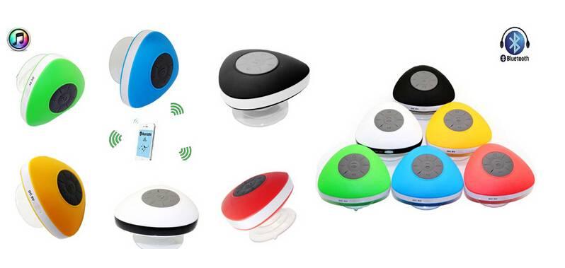 Triangle shape Suction up Waterproof Bluetooth Speaker