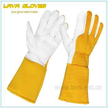 Pigskin Leather Long Sleeve Adult Gardening Gloves