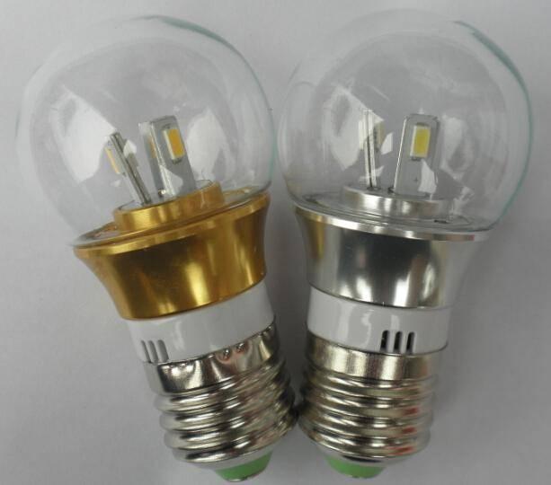 2016 high quality clear glass 3W 4W 5W 6W import light e27 led bulb