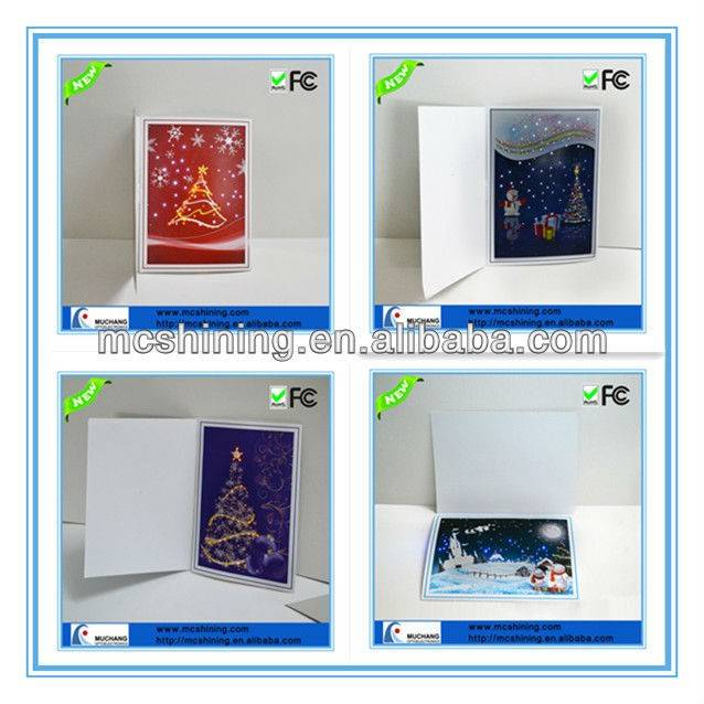 LED light up customized paper gift greeting cards
