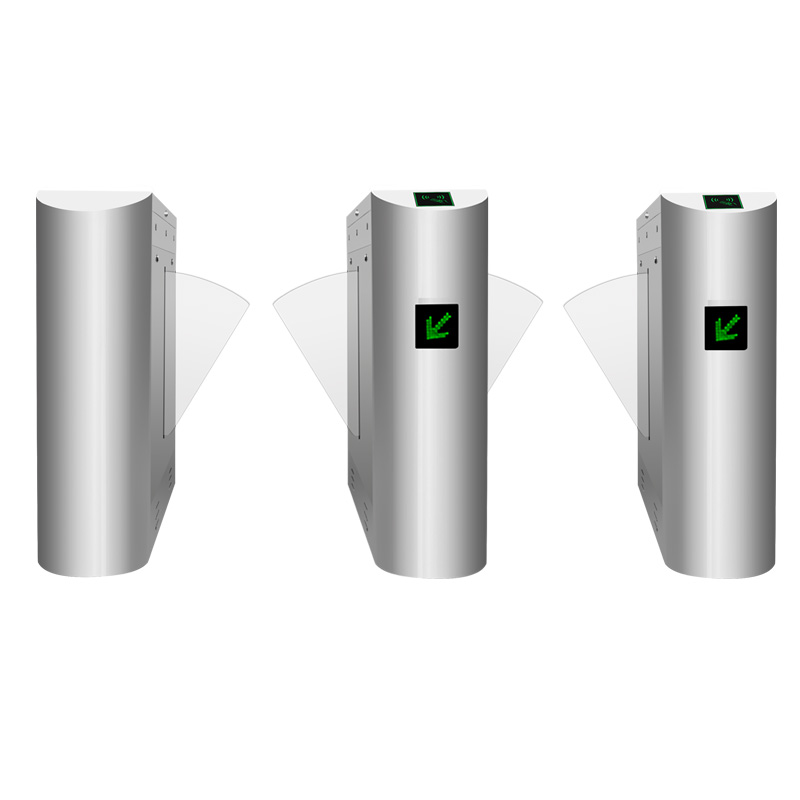 Face recognition Flap barrier turnstile Access control system
