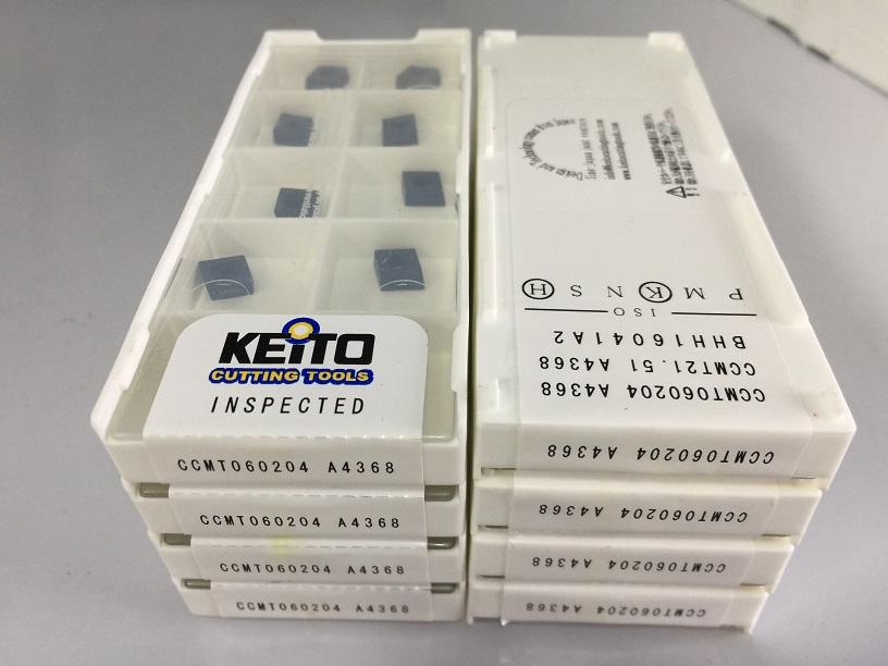 Carbide inserts CCMT060204