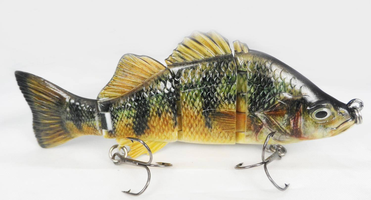 cheap fishing lures 4 section jointed hard body bait fishing lures